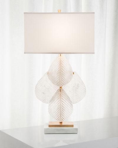 Glass Petal Table Lamp