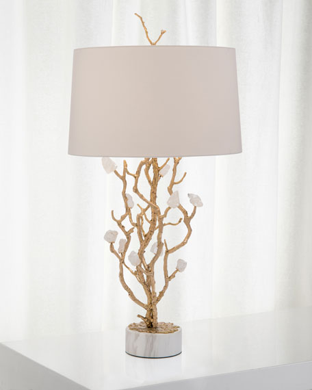 John-Richard Collection Quartz Bud Table Lamp