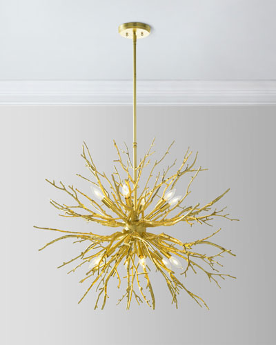 Branches of Gold 12-Light Chandelier