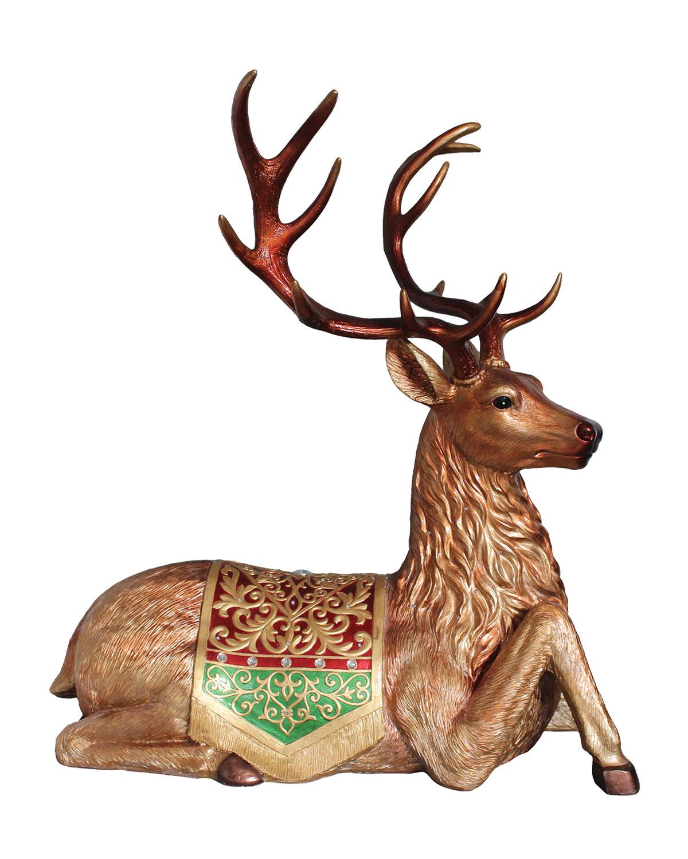 Deer Laying Down Christmas Decor, 30