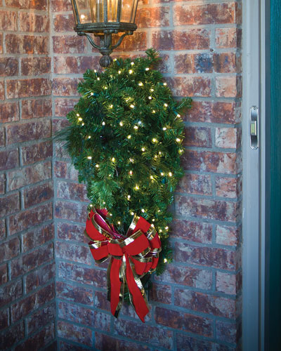 quick look door spray christmas decoration