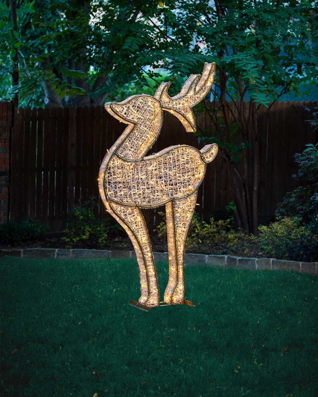 3D Deer with Lights Indoor Christmas Decoration