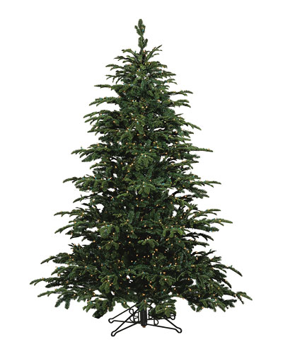 Star Fir Deluxe Glow Warm White LED Christmas Tree, 9'