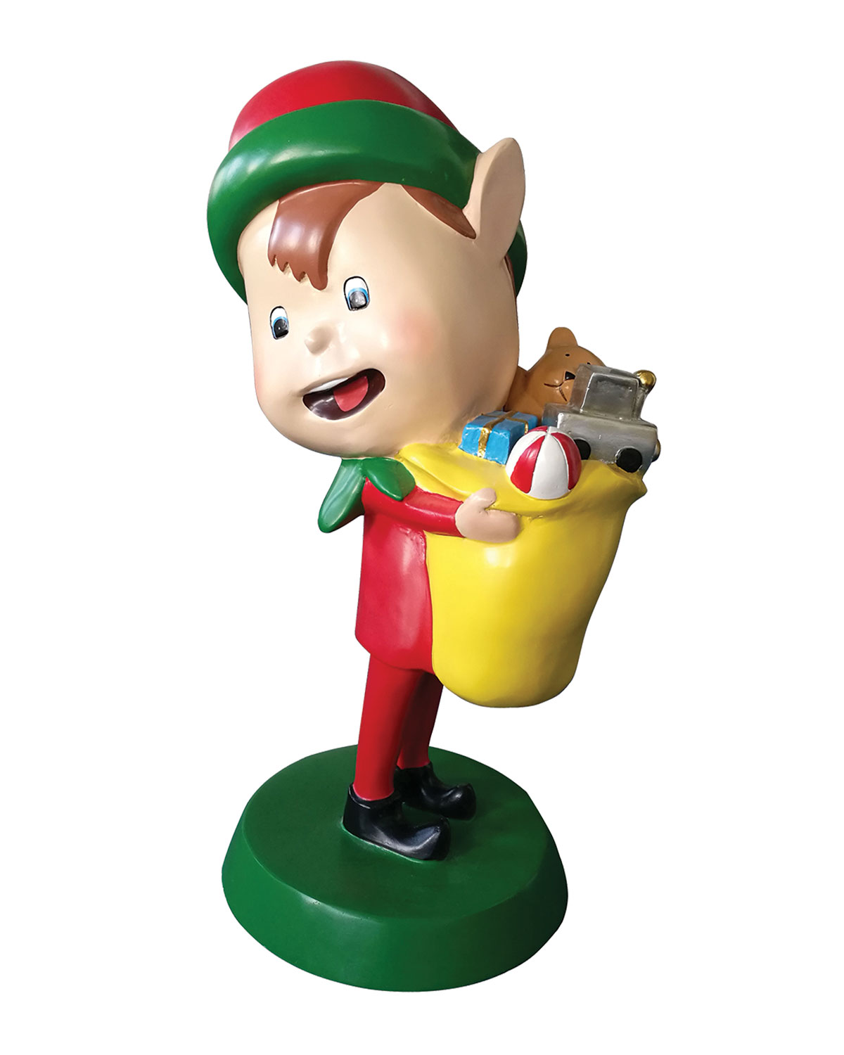 Live Form Elf with Toy Outdoor Christmas Decoration, 30
