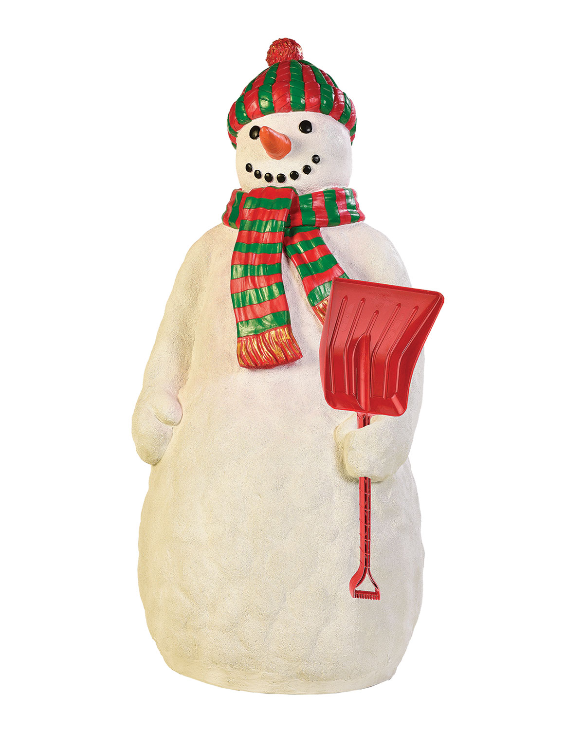 Live Form Snowman with Snow Shovel Outdoor Christmas Decoration