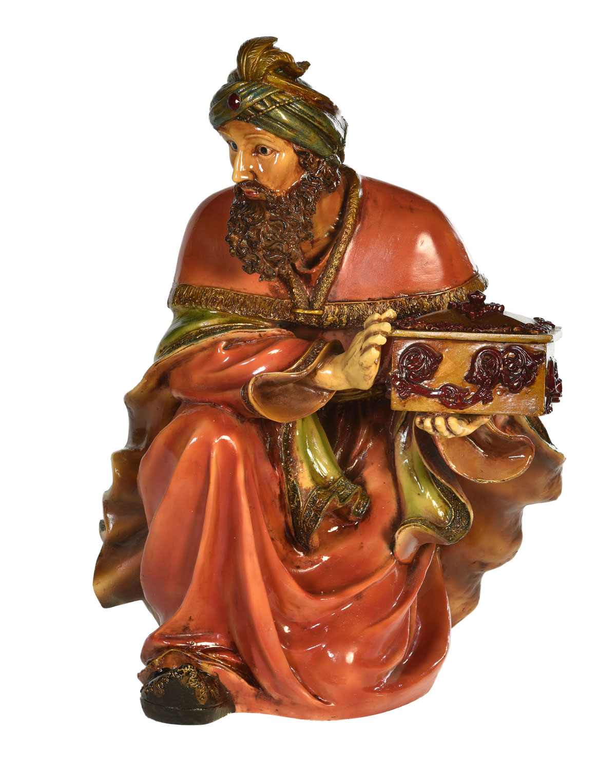 Live Form Small King Melchior Nativity Outdoor Christmas Decoration