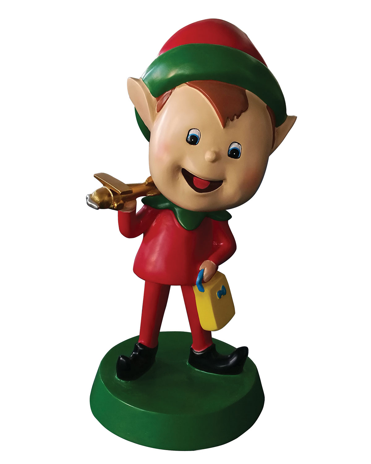 Live Form Elf with Plane Outdoor Christmas Decoration, 30