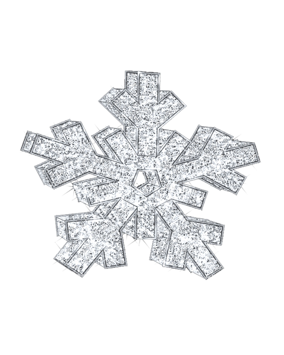 3D Snowflake with Lights Indoor Christmas Decoration