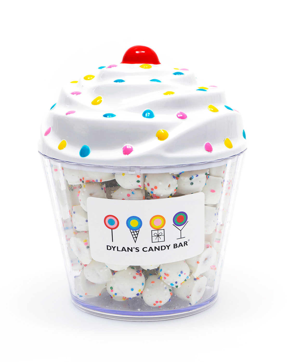 Dylan's Candy Bar Kids' Chocolate Pretzels Ball Cupcake In White