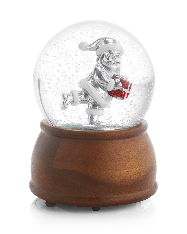 Holiday Santa Snow Globe
