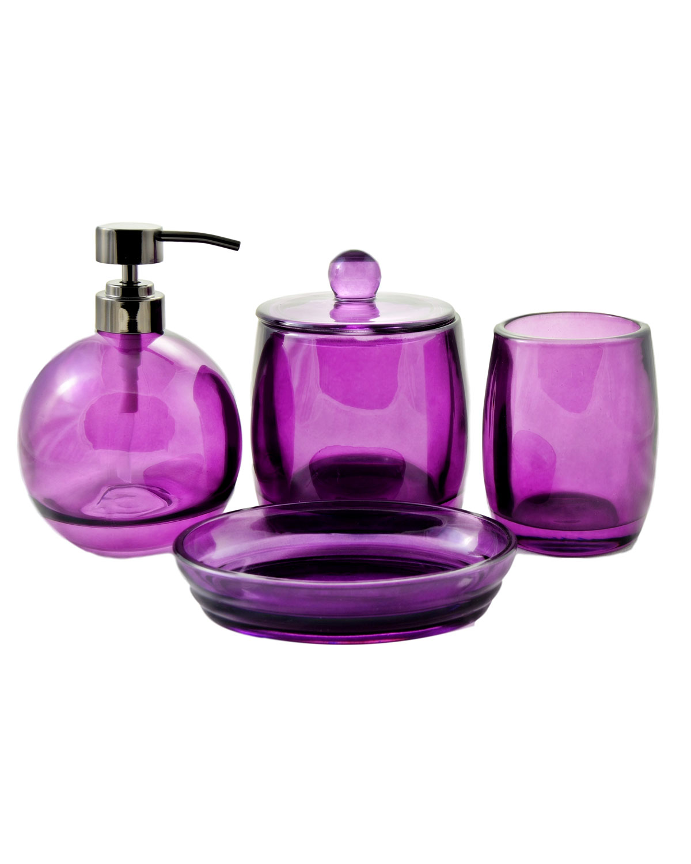 Ruby Collection Angus Glass 4-Piece Bath Spa Set