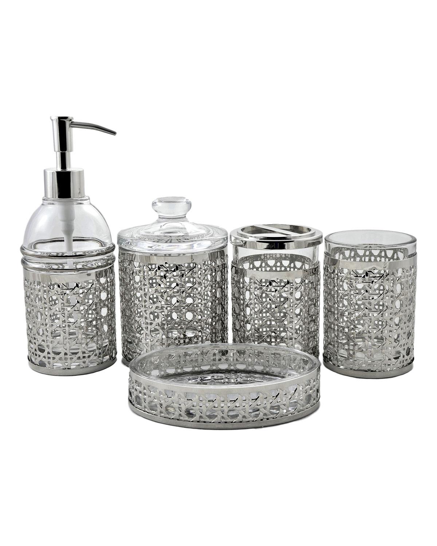 Ornamental Collection Angus Glass 5-Piece Bath Spa Set