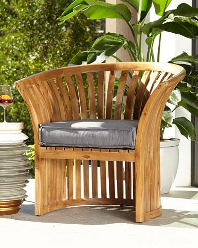 Teak Barrel Chair
