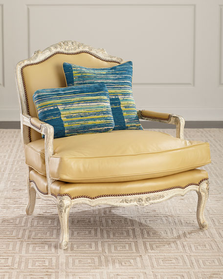Old Hickory Tannery Garten Leather Bergere Chair