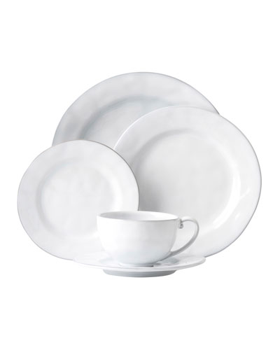 5-Piece Quotidien White Truffle Dinnerware Place Setting