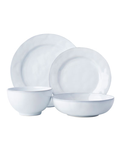 4-Piece Quotidien White Truffle Dinnerware Place Setting