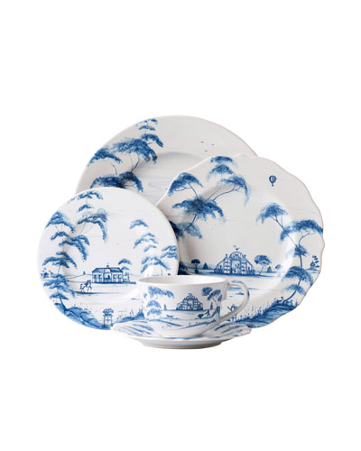 5-Piece Country Estate Delft Blue Dinnerware Place Setting