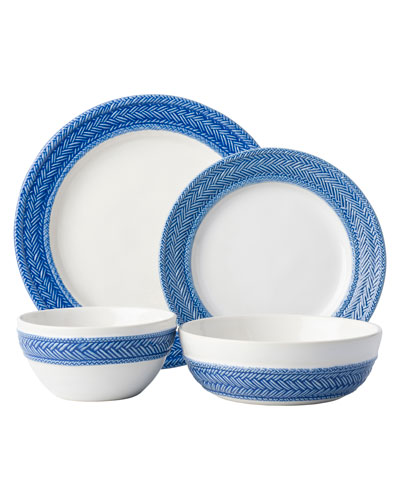 4-Piece Le Panier Delft Blue Dinnerware Place Setting