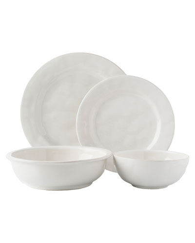 4-Piece Puro Whitewash Dinnerware Place Setting