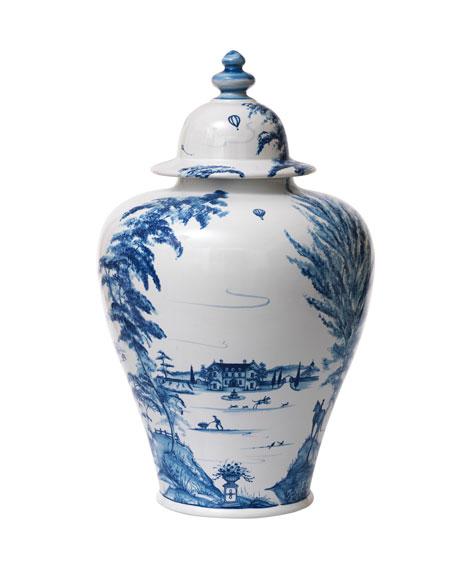 Juliska Country Estate Delft Blue Lidded Ginger Jar