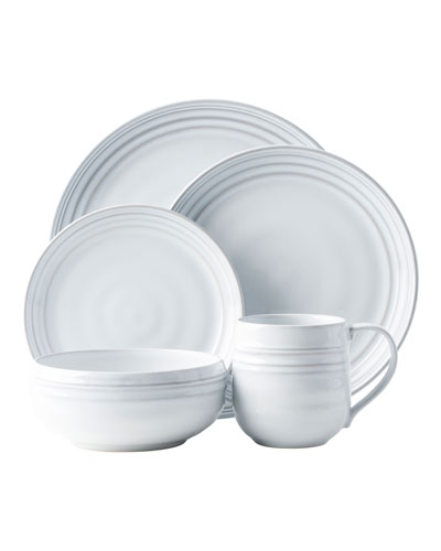 5-Piece Bilbao White Truffle Dinnerware Place Setting