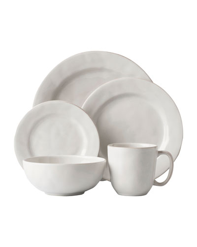 5-Piece Puro Whitewash Dinnerware Place Setting