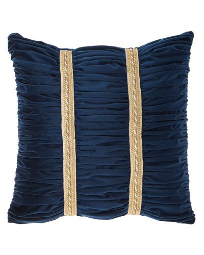 Belle Ruched Velvet European Sham