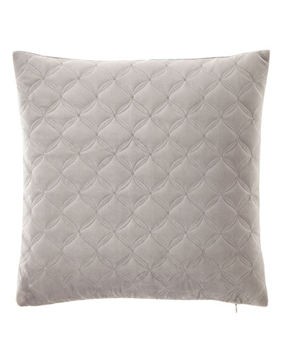 Diamond Embroidered Velvet Pillow
