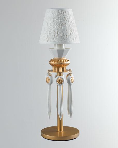 Lladro Belle de Nuit Lithophane Lamp, Gold