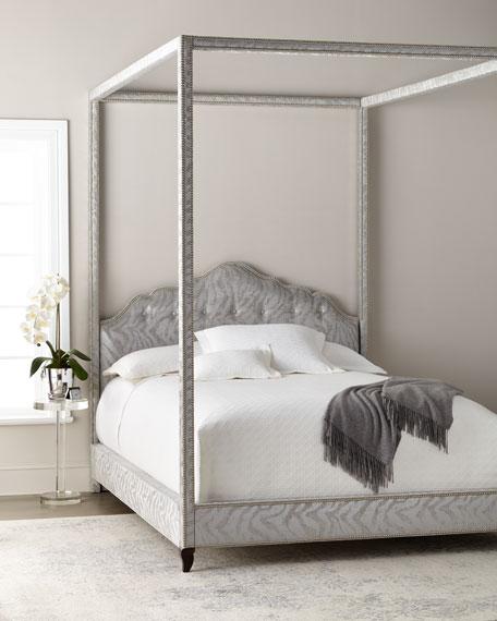Haute House Athena Zebra King Canopy Bed