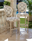 Fracture Silver Counter Stool