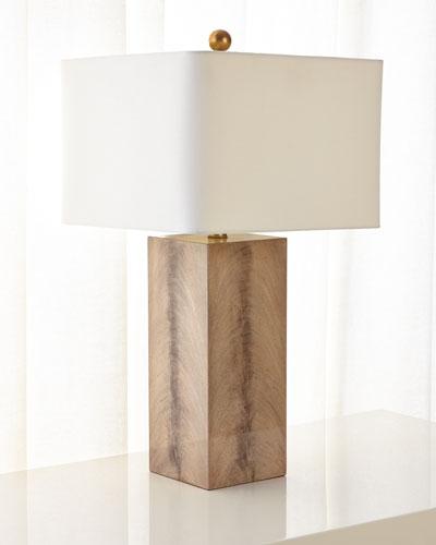Walnut Wood Veneer Table Lamp