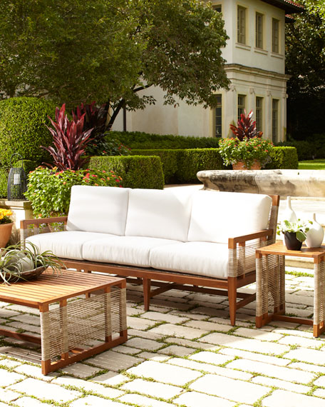 Palecek Amalfi Outdoor Sofa with Cushions