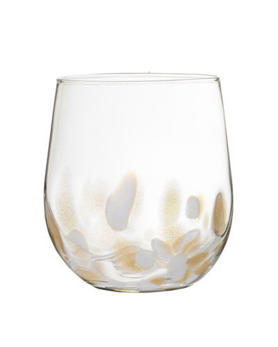 Simone Stemless Wine Glasses, Set of Four