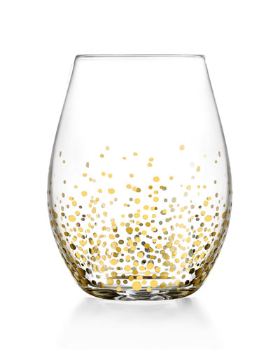 Gold Luster Stemless Wine Glasses, Set of 4