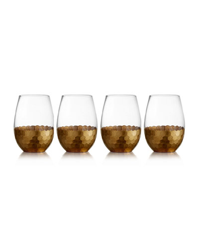 Daphne Stemless Wine Glasses, Set of 4