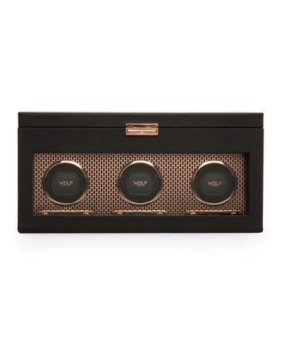 Axis Triple Watch Winder with Storage
