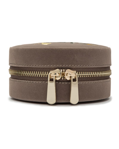 Zoe Round Travel Jewelry Case