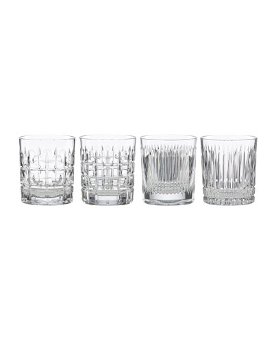New Vintage Double Old-Fashioned Glasses, Set of 4