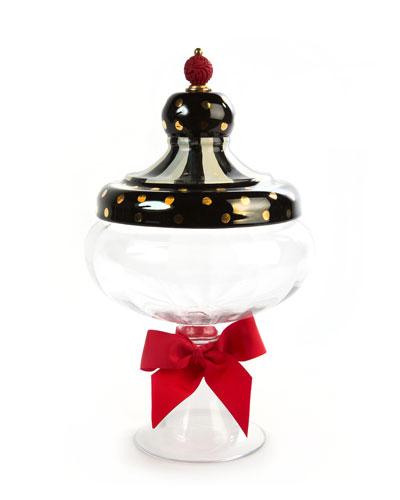 Black Tie Apothecary Jar