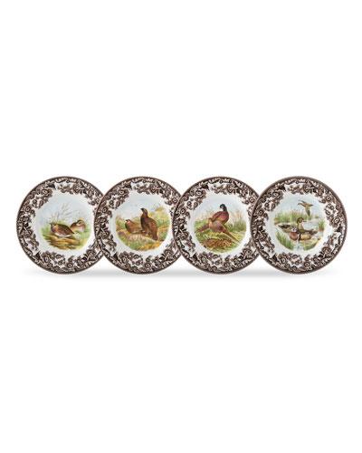 Woodland Birds Canape Plates, Set of 4