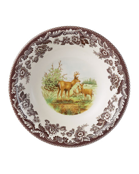 Spode Woodland American Wildlife Mule Deer Ascot Cereal Bowl