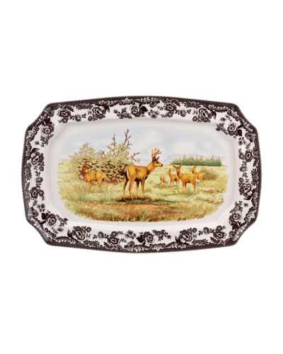 Woodland American Wildlife Rectangular  Platter