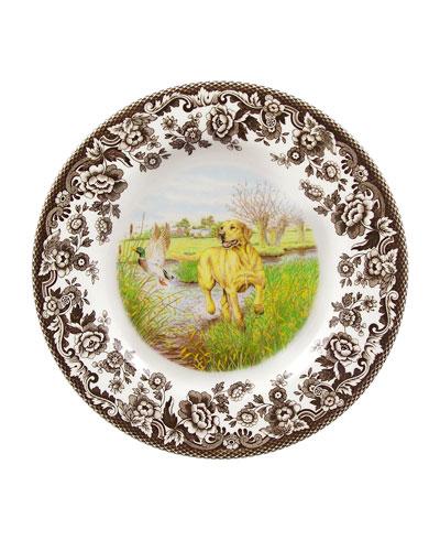 Woodland Hunting Dogs Yellow Lab Salad Plate