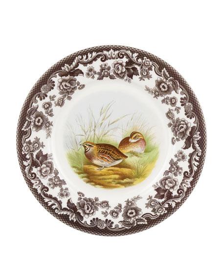 Spode Woodland Quail Luncheon Plate