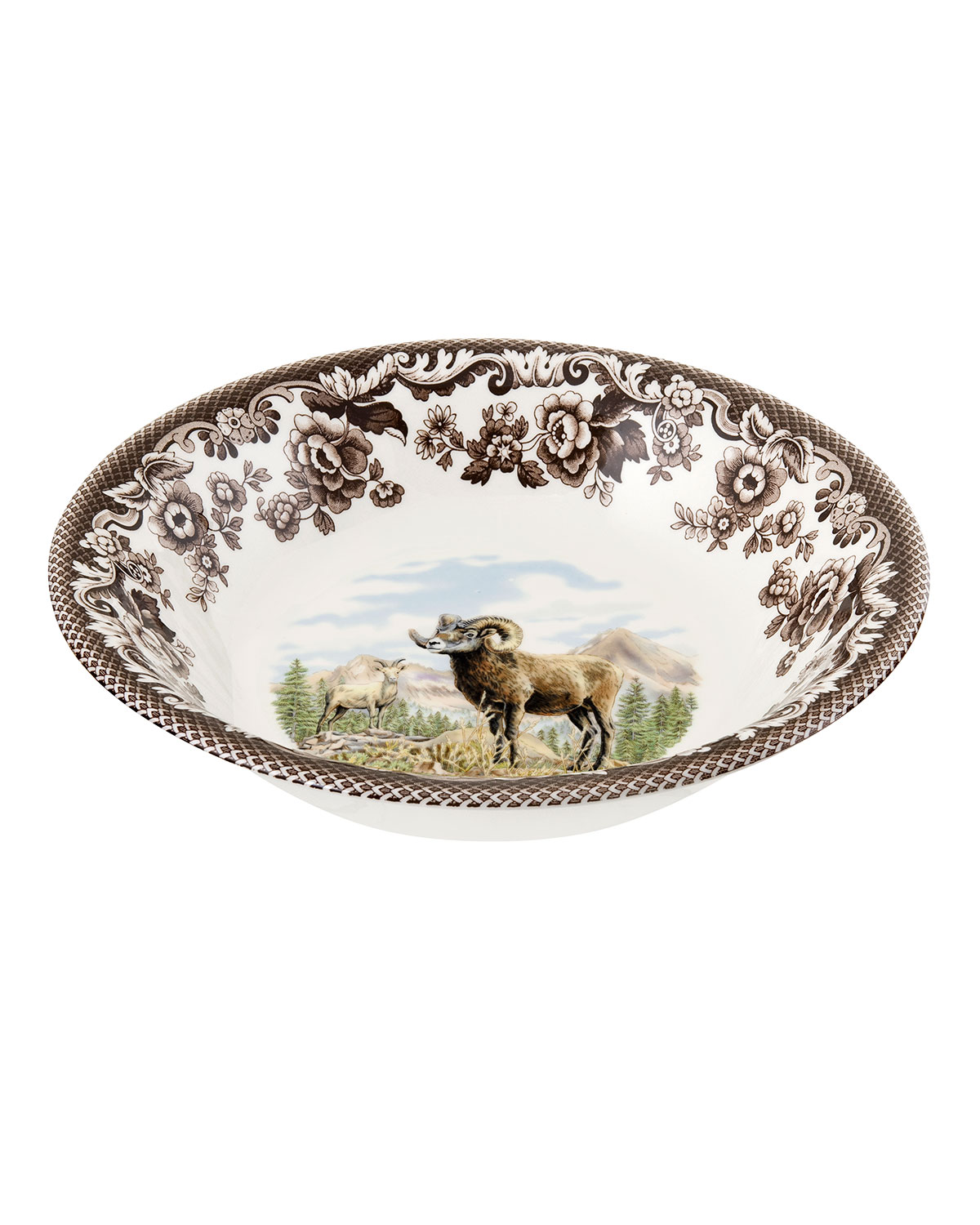 Spode WOODLAND BIGHORN SHEEP ASCOT CEREAL BOWL
