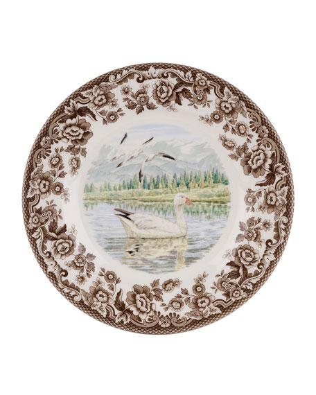 Spode Woodland Snow Goose Salad Plate