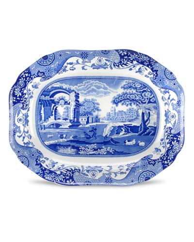 Blue Italian Medium Oval Platter