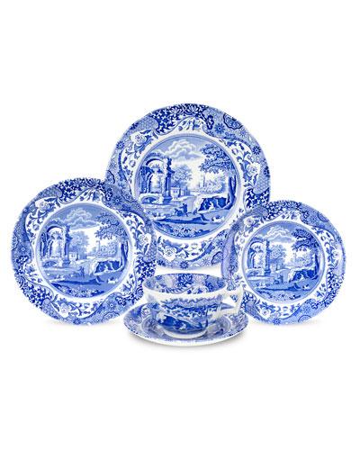 Blue Italian 5-Piece Dinnerware Set