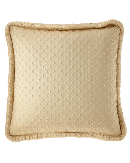 Dian Austin Couture Home Mayorka Geo European Sham with Silk Piping